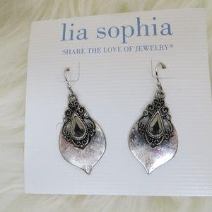 Lia Sophia Earrings Scroll Silver Romantic